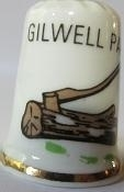 Vingerhoed - 032 - porselein - Gilwell Park - Thimble - bone china