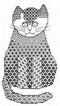 Butterfly Stitches - Connie Ewbank - Blackwork Cat
