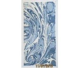 Jewelflower® - Blauw Marmer - geborduurd - Blue Marble - finished