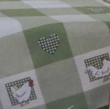 Small Tablecloth - offwhite and green - aïda