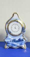 Miniature Delft Blue Clock - 7