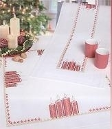 Table runner with candles