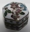 Box, cloisonne - flowers - 1