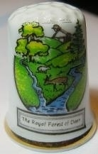 Vingerhoed - 022- porselein - The Royal Forest of Dean - Thimble - bone china