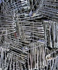 Safety pins, silver - 5 sets - 18 mm