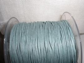 Wasdraad reseda - 1 mm - Wax cord - buish green - 5 meter