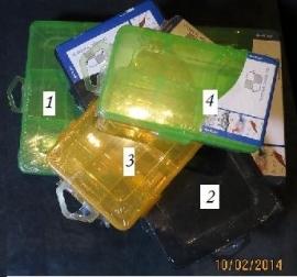 Kunststof doos maat 2 - geel - Storage box size 2 - yellow