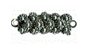 Clasp 1-row silver - 6 x 16 mm