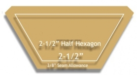 2.5 inch - snijmal voor Hexagon - Half - Cutting mal for Hexagon 2.5 inch