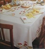 DMC - Tafelkleed Patroon - Paddestoelen - Tablecloth Pattern - Totestools