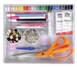 Naaidoos, wit - leeg - Sewing box, white - empty
