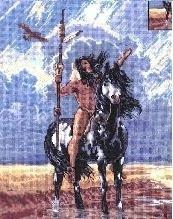 Hermon Adams - Zomer - Indiaan op zijn paard - Summer - Indian on his horse - aida