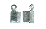 Cord clasps - silver - 1 mm - 10 pcs