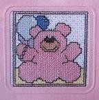 Mill Millie - Card - Pink Bear - aida