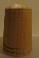 Vingerhoed - hout - 15 mm - Thimble wood
