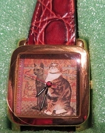 Lesley Ann Ivory - Watch with two kats - Collectors item