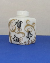 Miniature square Vase with top - 03