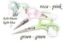Scissors, fine - pastel - polkadot blue - 9 cm
