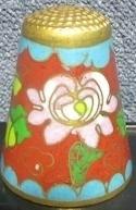 Thimble - 002 - cloisonne - flower