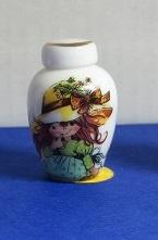 Miniatuur bolle Vaas, hoog - 11 - Miniature round Vase, high