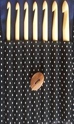 Knitstar set bamboo crochet hooks, large sizes - 6.5 up to 12 - 7pcs