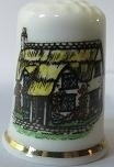 Vingerhoed - 024 - porselein - Cottage - Thimble - bone china