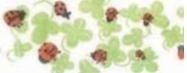 Biais binding tape - shamrock, ladybird - 20 mm