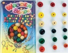 Houten ronde kralen - 70 gram - Wooden round beads