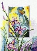 Iris met Vlinder - Iris with Butterfly