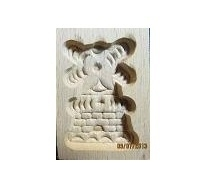 Wooden mold for Speculaas windmill - small - light