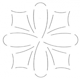 Quilt mal - Pijl en Strik - 15 cm - Loop & Dart