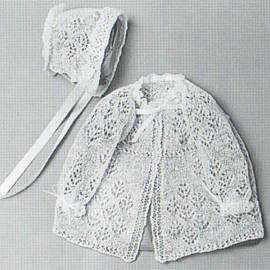 Cobweb lace Jacket & Bonnet