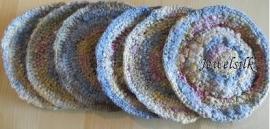 Jewelsilk® - Zijden onderzetters - 5 - Silk Coasters - 6 stuks