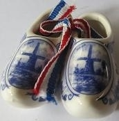 Delfts blauwe klompen - medium - Delft blue shoes - medium