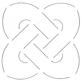 Quilt template - Celtic knot - 13.3 cm