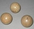 Wooden beads - 6 pcs - 18 mm