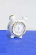 Miniature Delft Blue Clock - 12