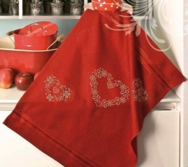 Tea towel - red - aïda