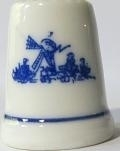 Thimble - 095 - wind mill  - Delft blue