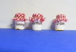 Miniature Marmalade jars 3 pc