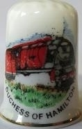 Vingerhoed - 038 - porselein - trein - Duchess of Hamilton - Thimble - bone china - train
