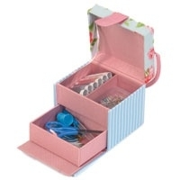 Naaiboxje, compleet - Roze - Pink - little Sewing box