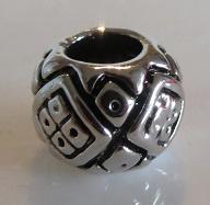 Bead - silver - V
