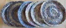 Jewelsilk® - Zijden onderzetters - 3 - Silk Coasters - 6 stuks