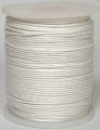 Wasdraad wit - 1 mm - Wax cord white - 5 meter