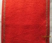 Linen Christmas red with gold 27ct evenwave - 14.5 cm