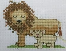 Junior - Lion with cub - aida
