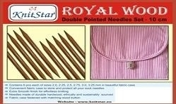 Knitstar - Set Royal Wood double pointed needles - 10 cm