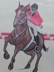 Rungrat Pathikul - Springend Paard - Jumping Horse aida