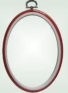 Flexi hoop - oval - red - 14 x 10 cm